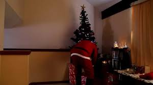 santa caught delivering presents on secret hidden camera youtube