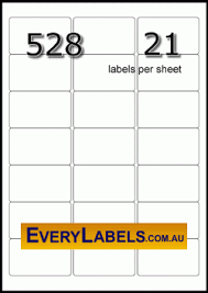 Label Printing Template 21 Per Sheet by 528 Rectangle 63 5 X 38 1 Clear Translucent Labels Avery