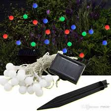 Outdoor Christmas Decorations Solar by Cheap Solar String Light Round Colorful 20 Led Frosted Small Ball