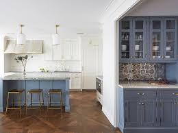 blue glass door hutch design ideas