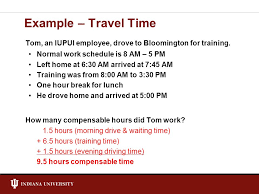 Indiana travel time to work images Fair labor standards act flsa ppt video online download jpg