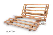 tri fold lounger bed wood futon frame queen size ebay