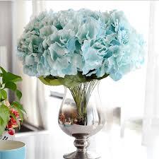 hydrangea bouquet artificial flower hydrangea bouquet 5 heads silk flower real touch
