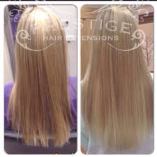 Keratin Tipped Hair Extensions by Before And After Keratin Bonded Prestige Hair Extensions Blonde
