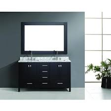 Vanity Plus Design Element 60 London Double Vanity Set White Espresso Gray
