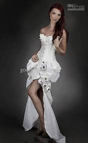 burlesque wedding dresses embroidery ivory steunk burlesque corset wedding gown with