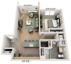 two bedroom 3d floor plan net zero village