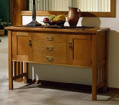 Arts And Crafts Storage Cabinet by Arts And Crafts Buffet Woodworking Plan From Wood Magazine