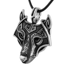 wolf necklace pendant images Wolf head necklace kwnshop jpg