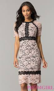 lace wedding guest dresses black wedding guest dress with pink lace promgirl