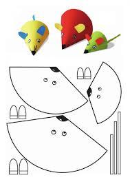 cone shaped mouse craft çocuklar için faaliyet pinterest