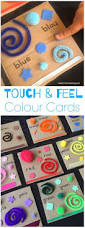 touch u0026 feel colour cards sensory kids activities and