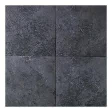 daltile continental slate asian black 18 in x 18 in porcelain floor and wall