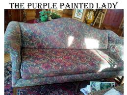 Leather And Tapestry Sofa Using Chalk Paint To Paint Your Or Wing Back Chair Fabric