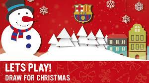 draw your barça christmas card fc barcelona tickets online