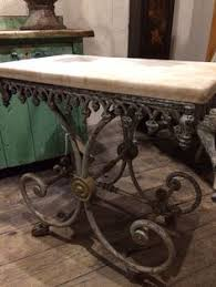 antique french butcher table antique french butcher table with cast iron feet and marble top