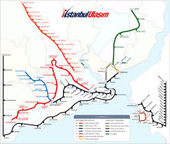 istanbul metro map istanbul metro system geographical map mapsof