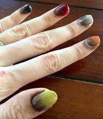 tutorial ombre fall colors nails for nickels