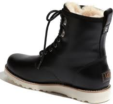 s ugg australia black boots ugg australia s hannen casual boots national sheriffs