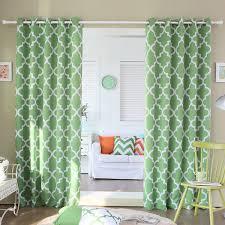 aurora home moroccan tile room darkening grommet top 84 inch curtain panel pair