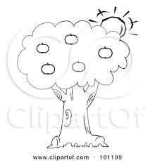 apple tree coloring pages royalty free rf clipart illustration of a coloring page outline