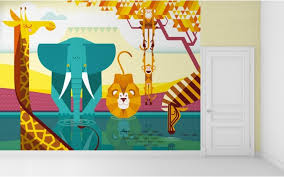 Kid Room Wallpaper by Savanna Jungle Kids Wall Murals Kids Room Wallpaper Baby