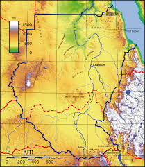 Topographic Map Usa by Topographic Map Of Sudan Nations Online Project
