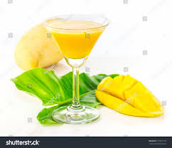 mango martini mango juice on white background decorate stock photo 217223110
