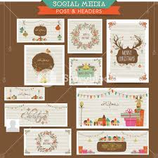 creative social media post and header set with various stylish