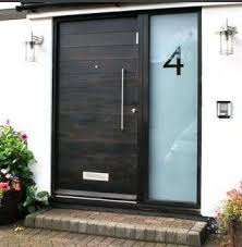 Frosted Glass Exterior Doors Lovely Etched Glass House Numbers R22 On Modern Interior And