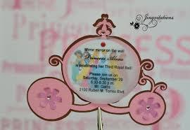 Princess Themed Invitation Card Disney Princesses Birthday Invitations Disney Princess Birthday