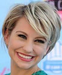 coupe de cheveux blond coupe cheveux épais visage rond