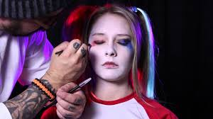 halloween costumes with tattoos harley quinn squad makeup tutorial youtube