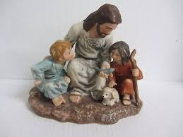 home interior jesus figurines home interiors the fisherman jesus figurine homco fishermen