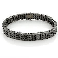 black diamonds bracelet images 49 black and diamond bracelet three row black and white diamond jpg