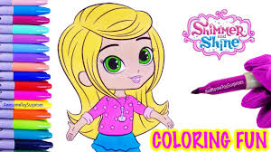 leah coloring fun shimmer shine speed coloring activity
