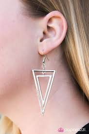 sharp earrings paparazzi accessories look sharp silver