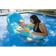 Swimways Baby Spring Float Sun Canopy Blue by Swimways Baby Spring Float Sun Canopy Float For Swimming Pools