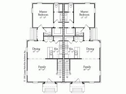 eplans georgian house plan colonial duplex twin layout home