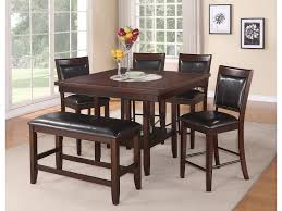crown mark fulton 6 pc counter height table chair u0026 bench set