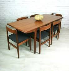 mid century modern furniture dining set round table and chairs los