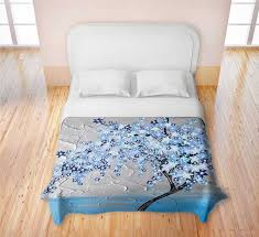 Cherry Duvet Cover 21 Best Soothing Bird And Blossom Bedroom In Blue And Pink Images