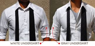 how to avoid having your undershirt visible under light colored