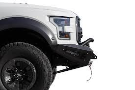 Ford Raptor White - add honeybadger front bumper raptorparts com