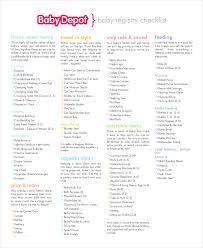 baby regisrty baby registry checklist 8 free word pdf psd documents