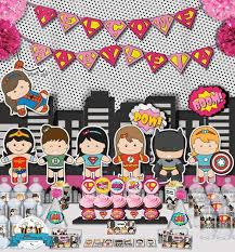 Batman Baby Shower Decorations 9 Best Girls Superhero Baby Shower Ideas Images On Pinterest