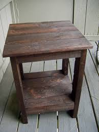 white wood end table furniture diy side table ideas together with furniture amusing
