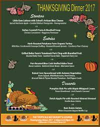 thanksgiving dinner at tropicale restaurant in palm springs