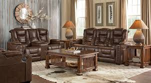 Living Room Table Ls Eric Church Highway To Home Chief Brown 5 Pc Power Plus Reclining