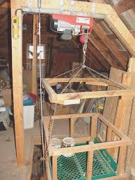 58 attic elevator homemade tim 039 s attic lift youtube